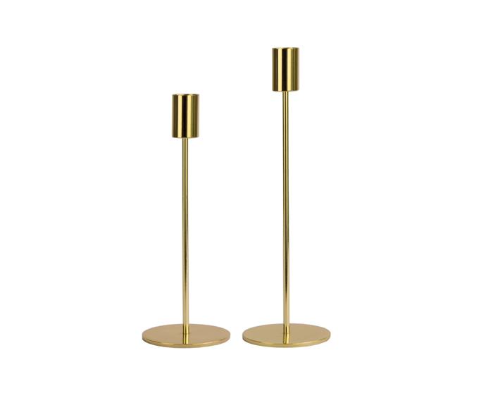 "House & Home Gold Candlestick Set, $19, [Big W](https://www.bigw.com.au/product/house-home-gold-candlestick-set/p/79899/|target=""_blank""|rel=""nofollow"")"