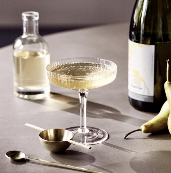 "Ferm LIVING Ripple Glass Champagne Saucers (Set of 2), $79, [Design Stuff](https://www.designstuff.com.au/ferm-living-ripple-glass-champagne-saucers-set-of-2/|target=""_blank"")"