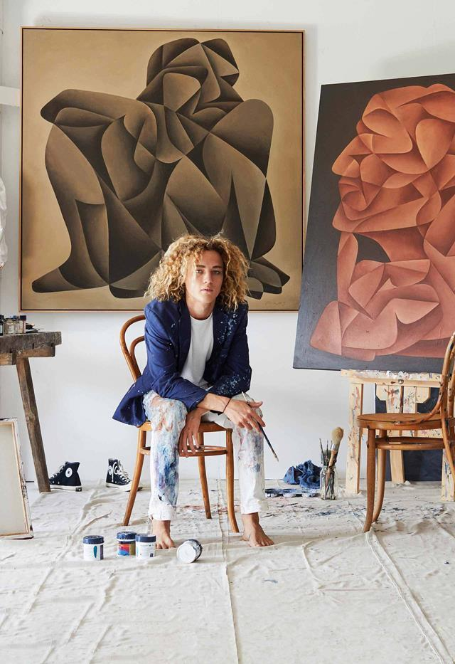 """Growing up in [his Byron home](https://www.homestolove.com.au/hunter-amos-artist-21324