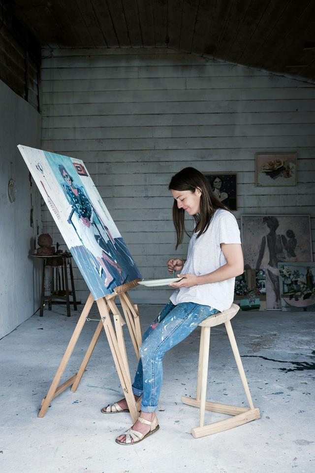 """The landscape of the NSW Southern Highlands proves fertile ground for artist Zoe Young and her family. More often she paints still lifes, many of which are inspired by the idyllic situation of [her backyard barn studio](https://www.homestolove.com.au/artist-backyard-studio-14050