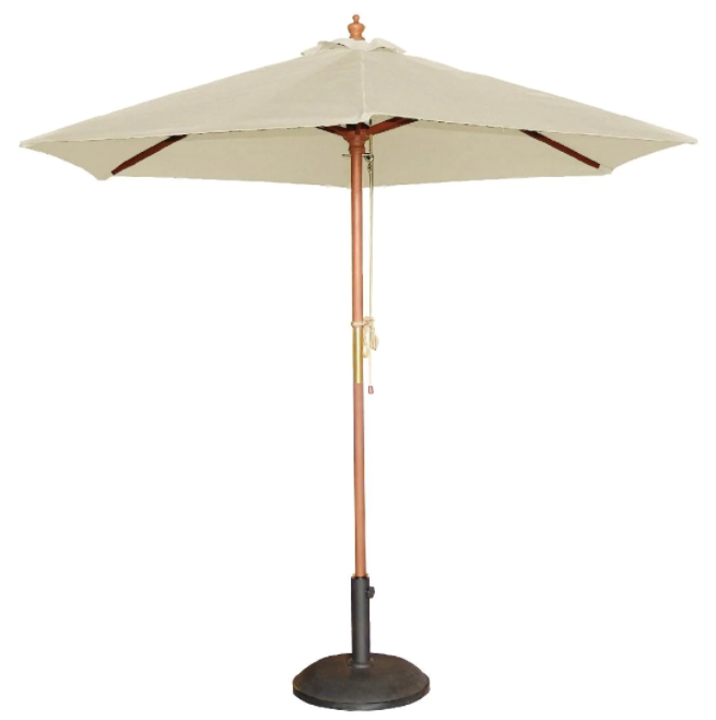 "Bolero Round Outdoor Umbrella in Cream, $98.89, [Nisbets](https://www.nisbets.com.au/bolero-round-cream-outdoor-umbrella-237cm-high/cb513|target=""_blank""|rel=""nofollow"")"