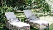 Outdoor furniture and decor for country gardens