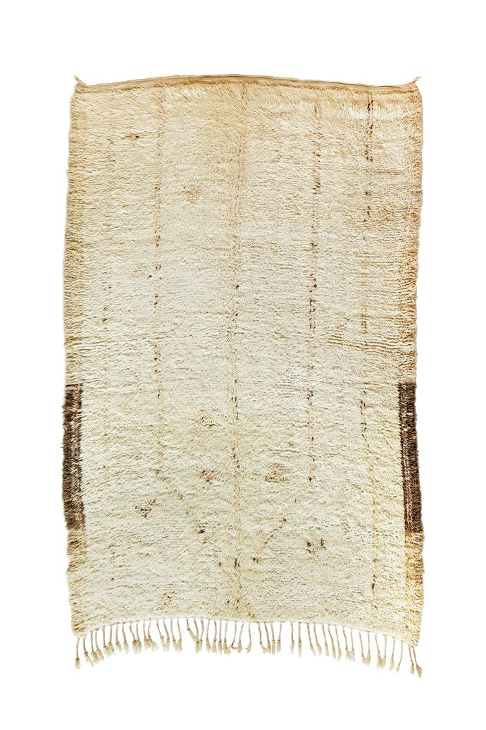 """Rosie Azilal rug, $4,400 (2.8m x 1.9m), [Tigmi Trading](https://tigmitrading.com/collections/rugs-all/products/rosie-beni-ourain