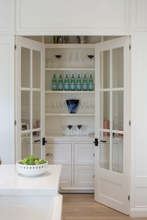 "This compact butler's pantry is separated by french glass doors, making the [kitchen pinned by Home Bunch](https://www.pinterest.com.au/pin/Aenx9WbEUlQcKOK86EXO5qk5Li3BHtFm1n1HaU7EeDzn3OwObaId34s/?nic_v1=1aiWqjaWi%2B%2Bga3JHqGCsYceiCPMgAq3%2F8kvB8PdGI2q%2B9C80P%2BEjmsyWqSDpxqk8%2BB|target=""_blank""