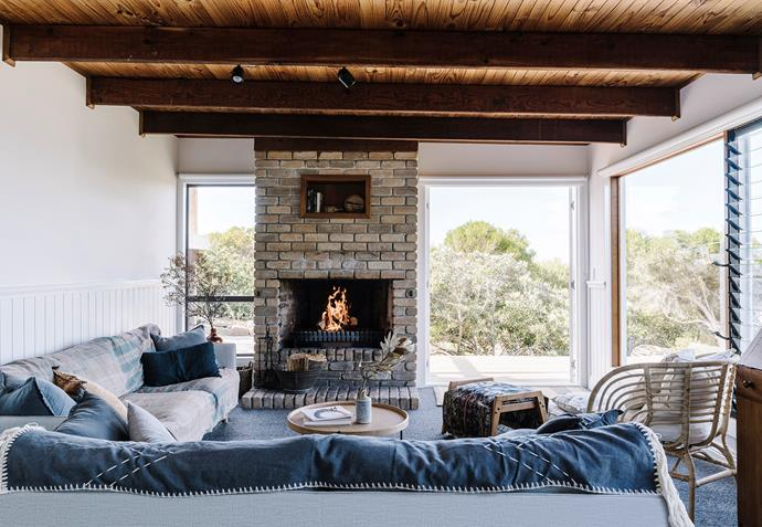 Enjoying the ocean view from the Sketch sofas, from The Living Room in Launceston, in front of a roaring fire is the quintessential Whale Song experience.