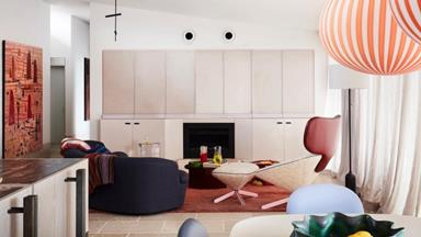 A colourful and eclectic apartment that's filled with art