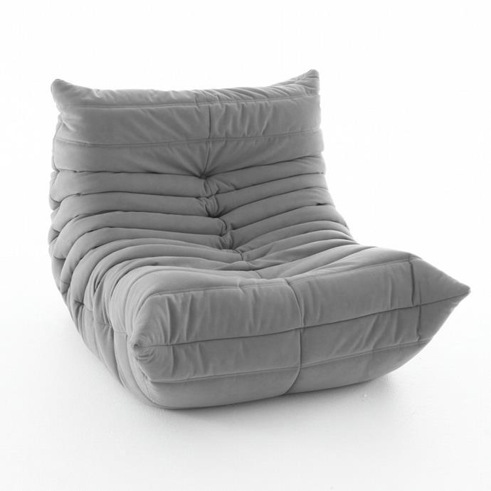 "Togo Fireside Chair, Ligne Roset, $3,495 – $3,925, [Domo](https://www.domo.com.au/product/togo-armchair/|target=""_blank""|rel=""nofollow"")"