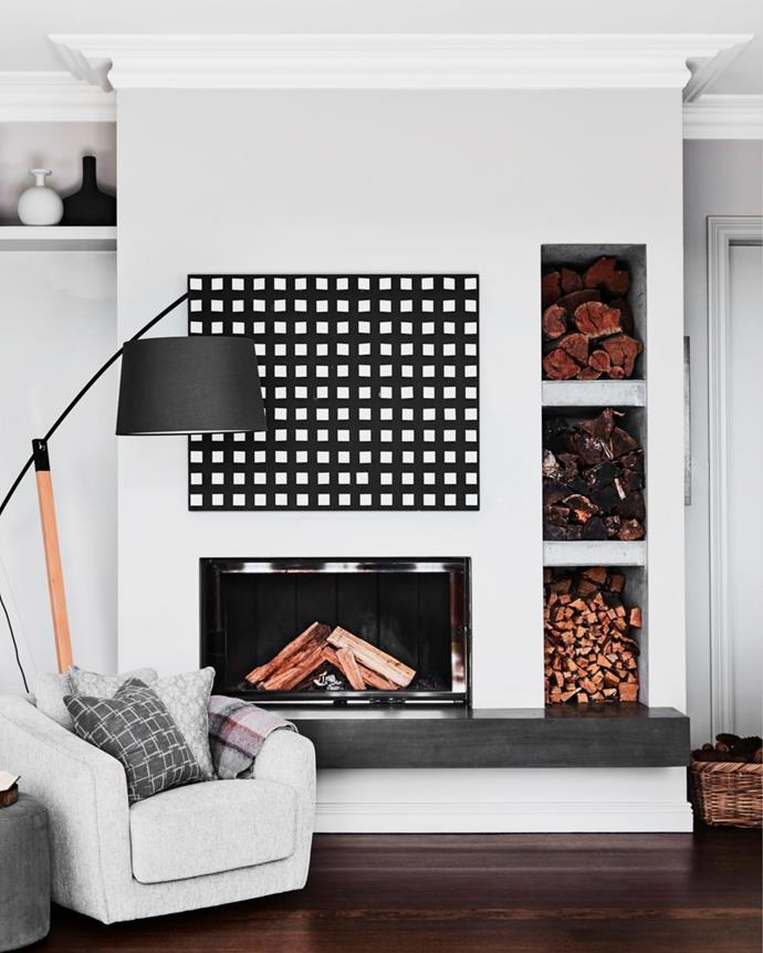 Dune armchair, Contents International Design. Bilanciare floor lamp, Fanuli. Custom cushions in Busatti fabrics by Studio Kate.