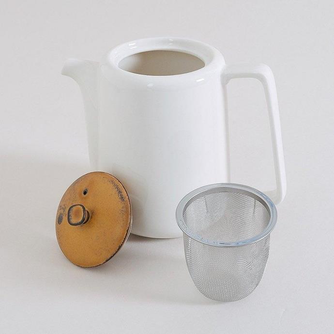 "Mino porcelain teapot, $85, [Provider Store](https://www.providerstore.com.au/collections/ceramics/products/mino-porcelain-teapot|target=""_blank""|rel=""nofollow"")"