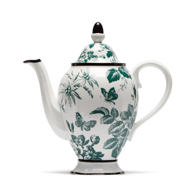 "Gucci 'Herbarium' porcelain coffee pot, $835, [Matchesfashion.com](https://www.matchesfashion.com/au/products/Gucci-Herbarium-porcelain-coffee-pot-1216159|target=""_blank""|rel=""nofollow"")"