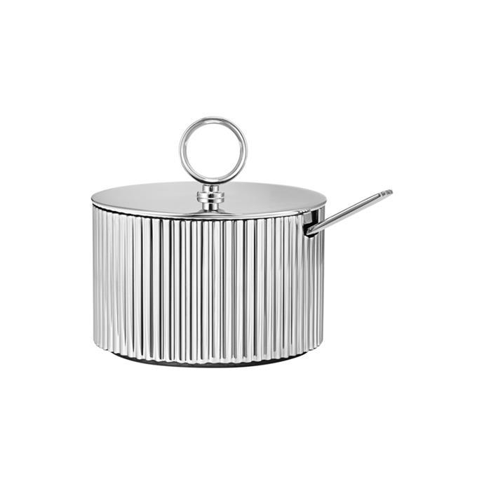 "'Bernadotte' sugar bowl and spoon, $130, [Georg Jensen](https://www.georgjensen.com/en-au/dining-and-bar/coffee-tea/bernadotte-sugar-bowl-incl.-spoon-design-inspired-by-sigvard-bernadotte./10014932.html|target=""_blank""|rel=""nofollow"")"