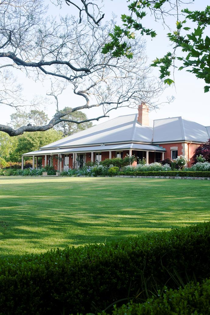 The Shipways' colonial homestead, with its deep verandah, overlooks a broad sweep of lawn.