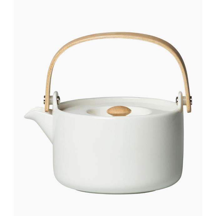 "Marimekko 'Oiva' teapot, $129, [Top3 by Design](https://top3.com.au/brands/marimekko|target=""_blank""|rel=""nofollow"")"