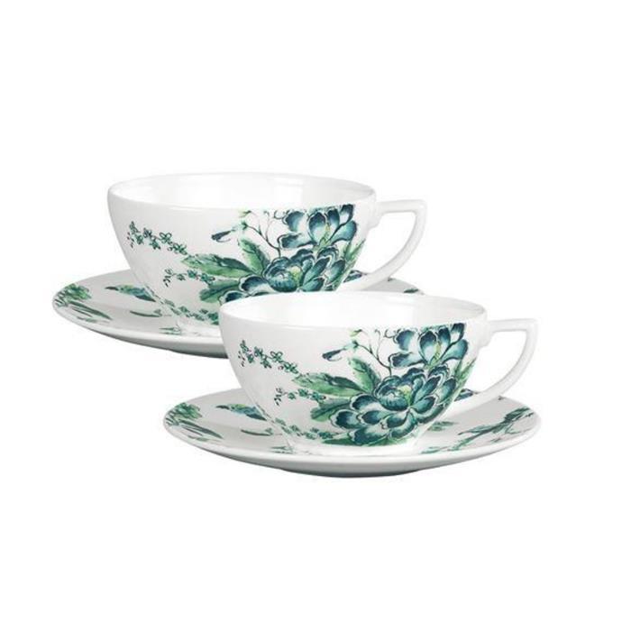 "Jasper Conran Chinoiserie set of 2 teacup & saucer, $249, [Wedgwood](https://www.wedgwood.com.au/jasper-conran-chinoiserie-white-set-of-2-teacup-saucer-boxed.html|target=""_blank""|rel=""nofollow"")"