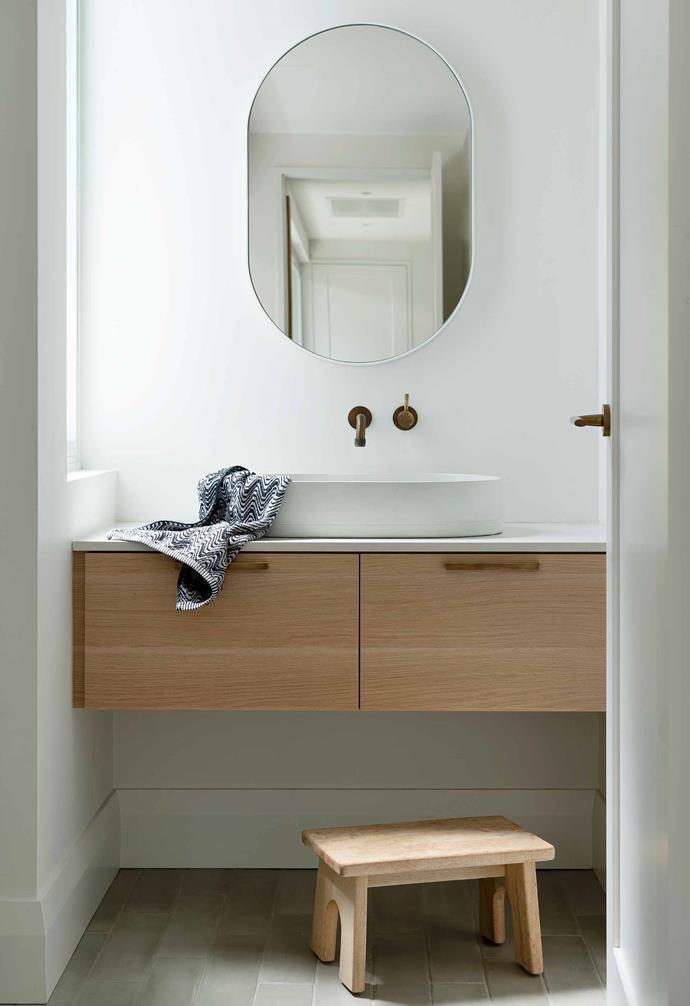 "**Ensuite** [Artedomus](https://www.artedomus.com/|target=""_blank""|rel=""nofollow"") tiles line the shower wall. Tapware, [Astra Walker](https://www.astrawalker.com.au/|target=""_blank""|rel=""nofollow"")."