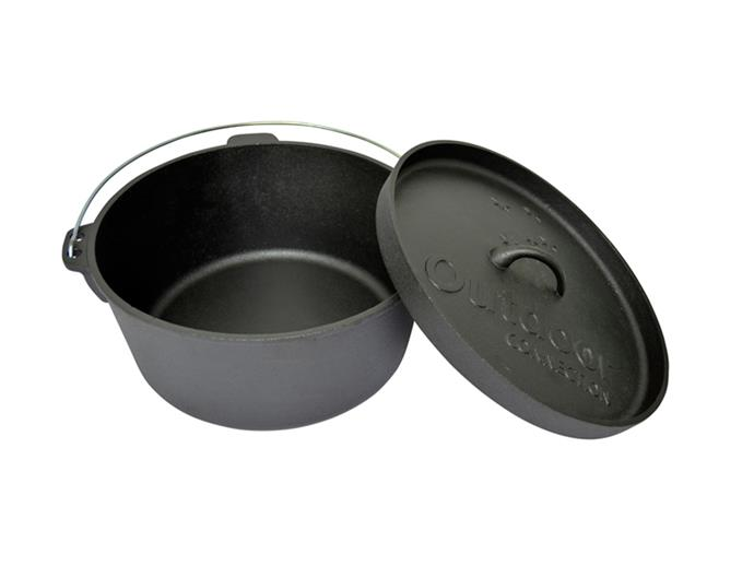 "Outdoor Connection Camp Oven 9Qt Lip Lid, $69.96, [Down Under Camping](https://www.downundercamping.com.au/outdoor-connection-camp-oven-9qt-lip-lid|target=""_blank""