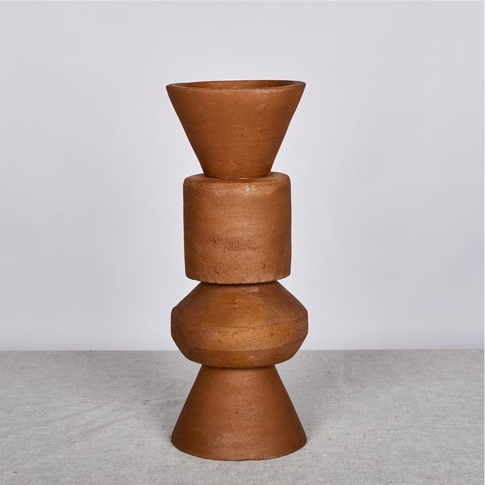 """Terracotta 40cm Vase, $120, [Bonnie & Neil](https://bonnieandneil.com.au/collections/vases/products/terracotta-40cm-vase target=""""_blank"""" rel=""""nofollow"""")"""