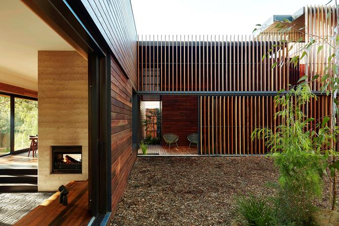 """""""The landscape was kept simple to reflect the native environment, using mulch and [native plants](https://www.homestolove.com.au/6-native-plants-that-thrive-in-winter-10297