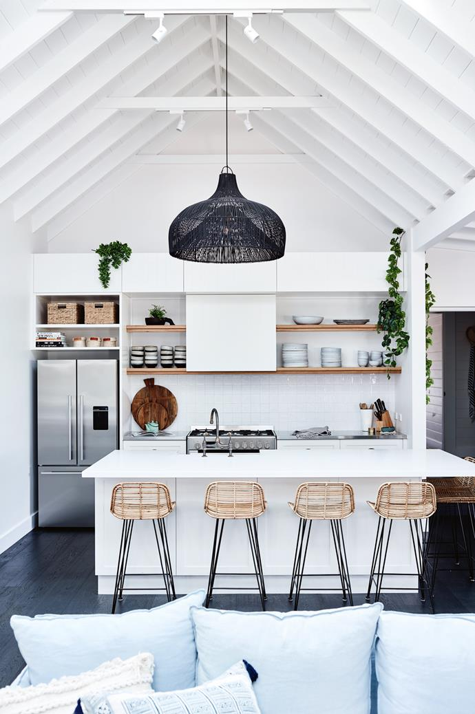 "After purchasing this [farmhouse in Gerringong](https://www.homestolove.com.au/coastal-farmhouse-reno-gerringong-18827|target=""_blank"") on a whim, this creative couple transformed it into a sophisticated modern coastal abode that features rustic charm with relaxed Scandi inspired styling."