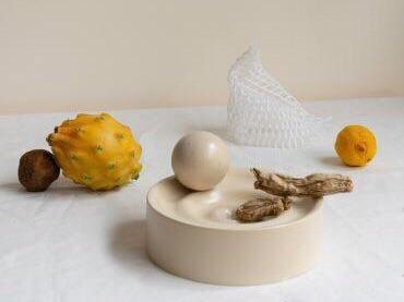 "Los Objetos Decorativos Waves Sculpture, Sand, $175, [En Gold](https://engold.com.au/collections/wares-1/products/waves-sculpture-sand target=""_blank"" rel=""nofollow"")"