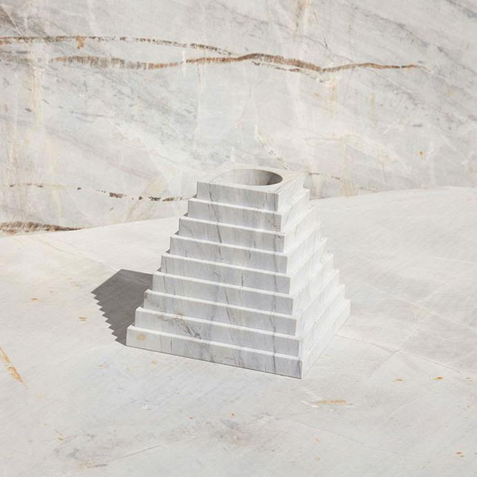 "Spomenik II by Marsha Golemac for New Volumes in Elba, $2695, [Modern Times](https://www.moderntimes.com.au/shop/art/sculpture/spomenik-ii-by-marsha-golemac-for-new-volumes-in-elba/ target=""_blank"" rel=""nofollow"")"