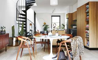 Industrial meets nature in this tiny cottage transformation