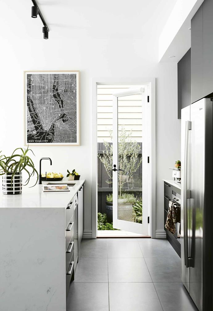 """We are firm believers in upcycling, so we sourced a beautiful solid [timber front door](https://www.homestolove.com.au/front-doors-australia-6476