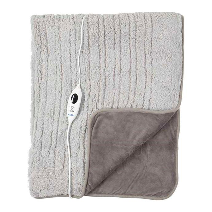 "Jason Reversible Heated Throw, $120, [Spotlight](https://www.spotlightstores.com/bed/bedding/electric-blankets/jason-reversible-heated-throw/BP80505286|target=""_blank""