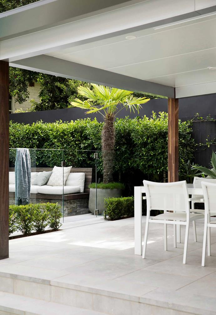 Landscape designer Oliver Sizeland of Growing Rooms took a Sydney garden from bland to beautiful by adding an all-encompassing alfresco area that flows out to the new pool. Everything is kept level with the house – there are no steps to negotiate – and the materials palette is soft and natural. Limestone pavers are teamed with dry-stone walling and spotted gum that will gently grey off over time.