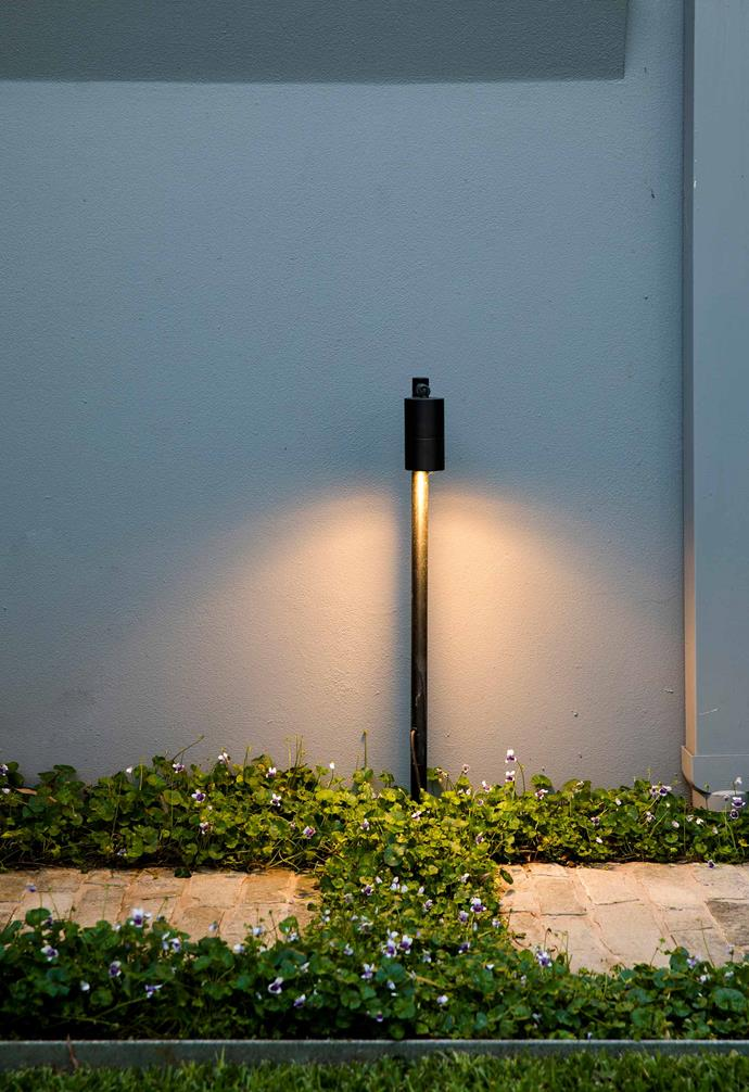 """**On high** """"Path lights play an important role in safely illuminating walkways,"""" says Oliver. """"Where lower plants are used, traditional uplights won't work. You need to light them from above."""""""