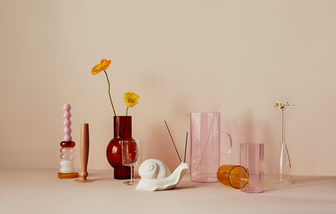 "[Coucou Jug in pink](https://www.maisonbalzac.com/products/coucou-jug-150|target=""_blank""|rel=""nofollow""), $149, [Coucou tall glass set](https://www.maisonbalzac.com/products/coucou-carafe-129|target=""_blank""|rel=""nofollow""), $89, [Loulou vase in amber](https://www.maisonbalzac.com/products/loulou-vase-amber|target=""_blank""|rel=""nofollow""), $129, [Monsieur Escargot the Snail](https://www.maisonbalzac.com/products/monsieur-escargot-the-snail|target=""_blank""|rel=""nofollow""), $249, [Sainte T Incense](https://www.maisonbalzac.com/products/sainte-t-incense-39|target=""_blank""|rel=""nofollow""), $39"