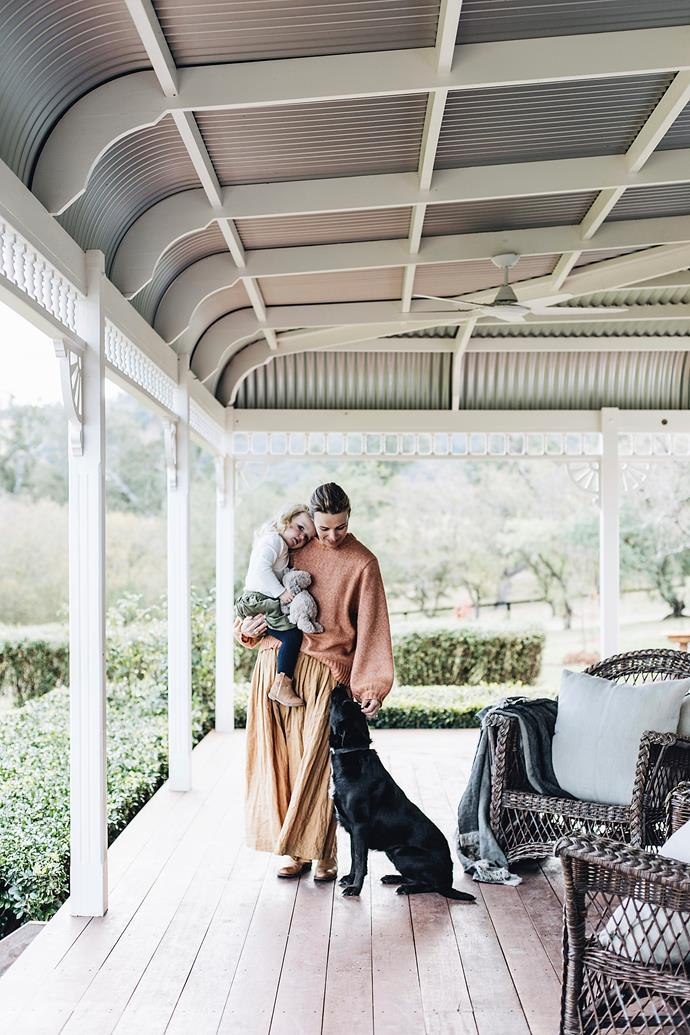 The whole family spends a lot of time on the large wraparound verandah.