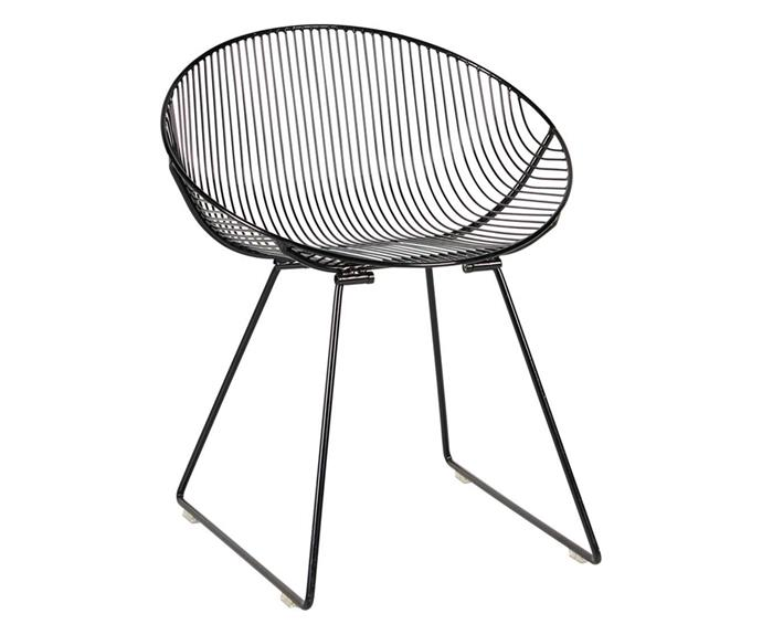 """Simple but oh-so-sleek, a setting of four of these powder-coated steel chairs are sure to make a bold impression. 'Pop' chair, $299, [Life Interiors](https://www.lifeinteriors.com.au/furniture/outdoor/seating/life-interiors-pop-chair-black