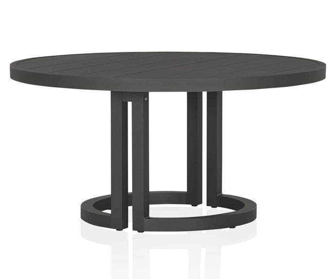 """Small outdoor entertaining area? No worries. This circular outdoor dining table will assist with enhancing a sense of indoor-outdoor flow. 'Palermo' outdoor dining table, $3595, [Coco Republic](https://www.cocorepublic.com.au/palermo-outdoor-dining-table-11899