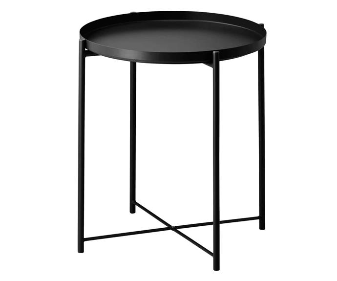 """The finishing touch to your sofa setting. 'GLADOM' tray table, $19.99, [IKEA](https://www.ikea.com/au/en/p/gladom-tray-table-black-00411997/