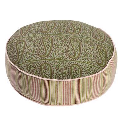 "Summerhouse 'Paisley' floor cushion, $165, [Canvas + Sasson](https://store.canvasandsasson.com.au/summerhouse/summerhouse-paisley-round-floor-cushion|target=""_blank""|rel=""nofollow"")"