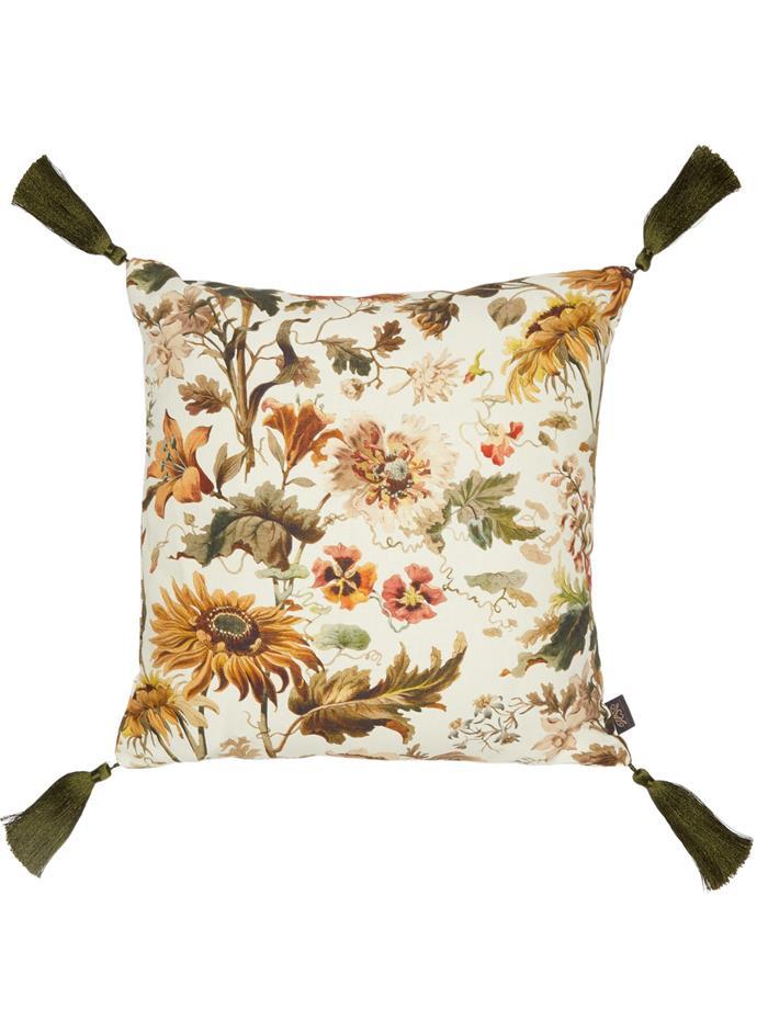 "House of Hackney Avalon medium floral-print canvas cushion, $247, [MatchesFashion](https://www.matchesfashion.com/au/products/House-Of-Hackney-Avalon-medium-floral-print-canvas-cushion-1342746|target=""_blank""|rel=""nofollow"")"