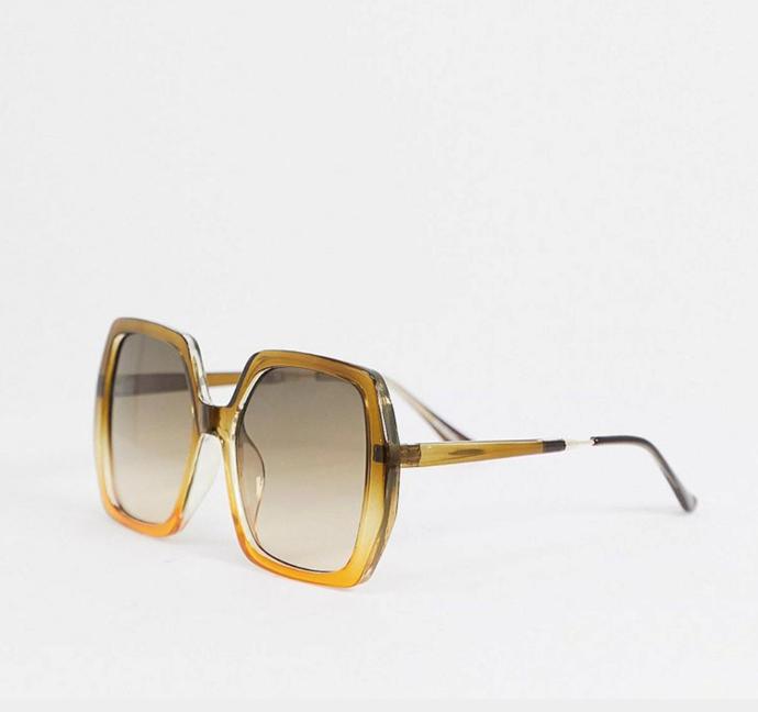 "70s square sunglasses in graduated frame in brown, $24, [ASOS](https://www.asos.com/au/asos-design/asos-design-70s-square-sunglasses-in-graduated-frame-in-brown/prd/13585040?channelref=product+search&affid=24792&mk=abc&ppcadref=9995283117%7C99537615023%7Cpla-332227620158&gclid=CjwKCAjw1ej5BRBhEiwAfHyh1DnmFoL5zH5byt7rTBFuWDG0cgzMvSQ65BSpro7J8fy50NIxNoBn8BoCBAIQAvD_BwE&gclsrc=aw.ds|target=""_blank""|rel=""nofollow"")"