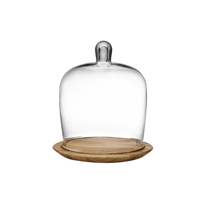 "Meringue Cake Glass Dome, $89.10, [The Flying Fork](https://theflyingfork.com.au/meringue-cake-high-dome-203mm-nude-glassware|target=""_blank""|rel=""nofollow"")"