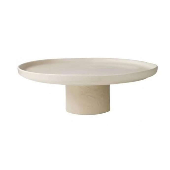 """GT signature tall cake plate with stand in Shortbread, $65, [Domayne](https://www.domayne.com.au/gt-signature-tall-cake-plate-with-stand-shortbread.html