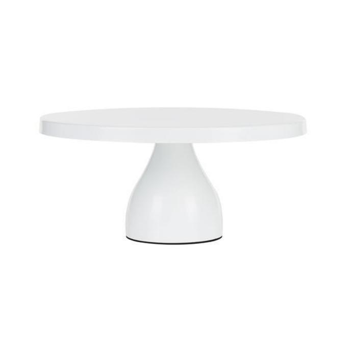 "Jocelyn Collection round modern cake stand in White, $68.95, [Amalfi Decor](https://amalfidecor.com.au/products/12-30cm-round-modern-cake-stand-white-jocelyn-collection|target=""_blank""|rel=""nofollow"")"