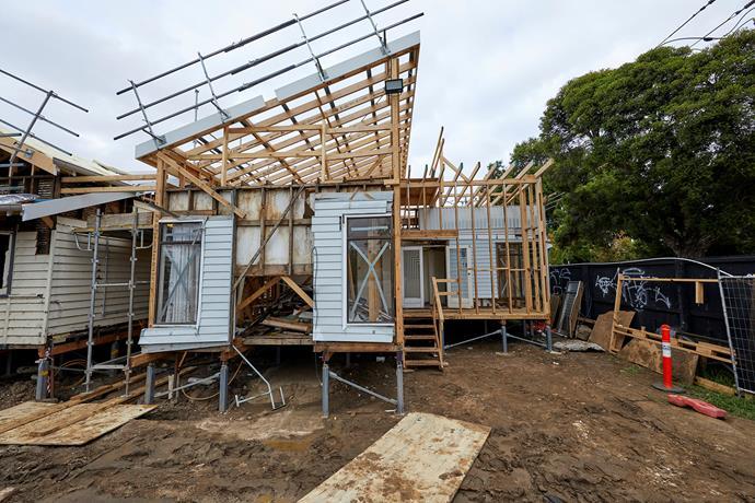 Before: House 5 facade.