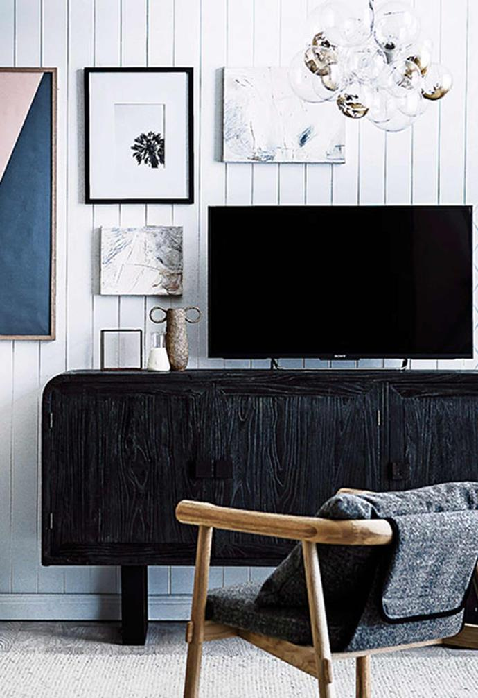 """[Hiding your home tech](https://www.homestolove.com.au/4-ways-to-make-your-home-tech-invisible-5516 target=""""_blank"""") is easier than you think! The trick is clever organisation, and decorating around it."""