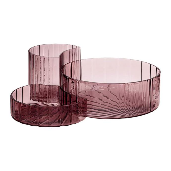 "AYTM Concha Bowls - Set of 3 - Rose, $21, [Amara](https://www.amara.com/au/products/concha-bowls-set-of-3-rose?ranMID=38936&ranEAID=2116208&ranSiteID=TnL5HPStwNw-J9zTYfdUc6EsWXLUbbuUxA&utm_source=LinkShare&utm_medium=Affiliate&utm_campaign=TnL5HPStwNw&utm_content=10&utm_term=AUNetwork&mid=38936&siteID=TnL5HPStwNw-J9zTYfdUc6EsWXLUbbuUxA|target=""_blank"")"