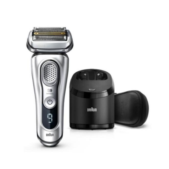 """Braun Series 9 Latest Generation Wet & Dry Electric Shaver with Clean&Charge Station and Leather Travel Case, $449, [The Shaver Shop](https://www.shavershop.com.au/braun/series-9--latest-generation-wet--and-dry-electric-shaver-with-clean-andcharge-station-and-leather-travel-case-010459.html