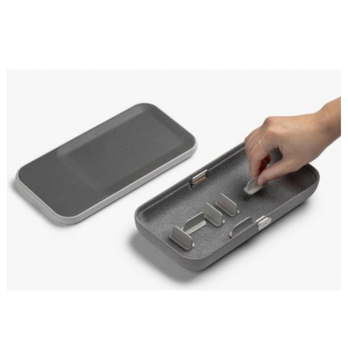 "ORBITKEY Nest Ash, portable desk Organiser + wireless charger, $149, [Design stuff](https://www.designstuff.com.au/orbitkey-nest-ash-portable-desk-organiser-wireless-charger/|target=""_blank""|rel=""nofollow"")"