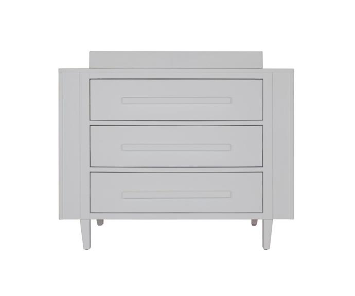 """Maxwell change table in White, $999, [Incy Interiors](https://incyinteriors.com.au/maxwell-change-table-white/