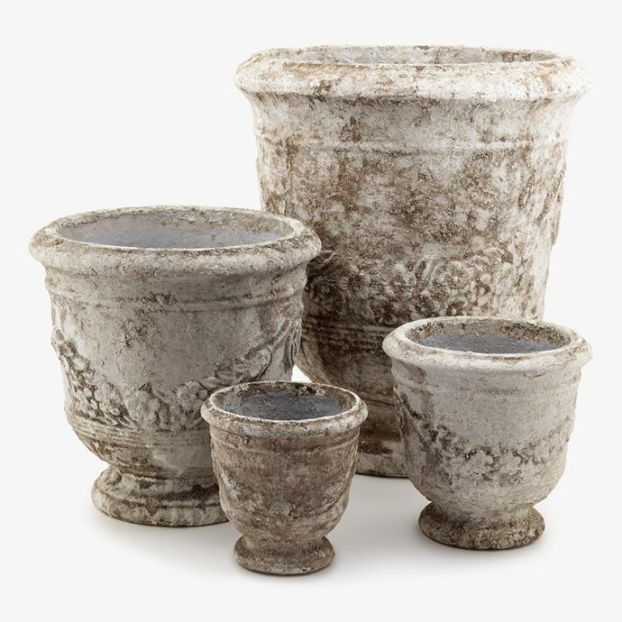 "Anduze Pots, $129, [Alfresco Emporium](https://alfrescoemporium.com.au/collections/outdoor/products/anduze-pots target=""_blank"" rel=""nofollow"")"
