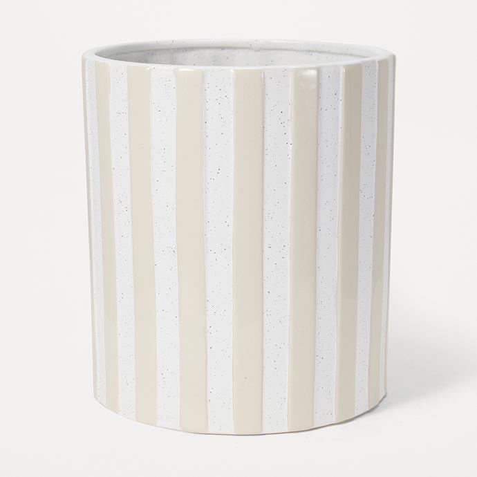 "Striped Pot, $12, [Kmart](https://www.kmart.com.au/product/striped-pot/3046310 target=""_blank"" rel=""nofollow"")"