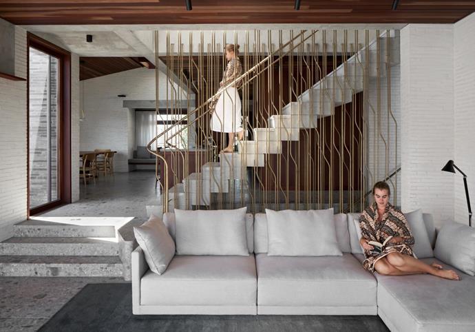 Eilersen Flap modular sofa, Spence & Lyda. Ceiling clad in bulletwood. MAIN